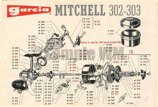 Mitchell 303 Mikes Reel Repair