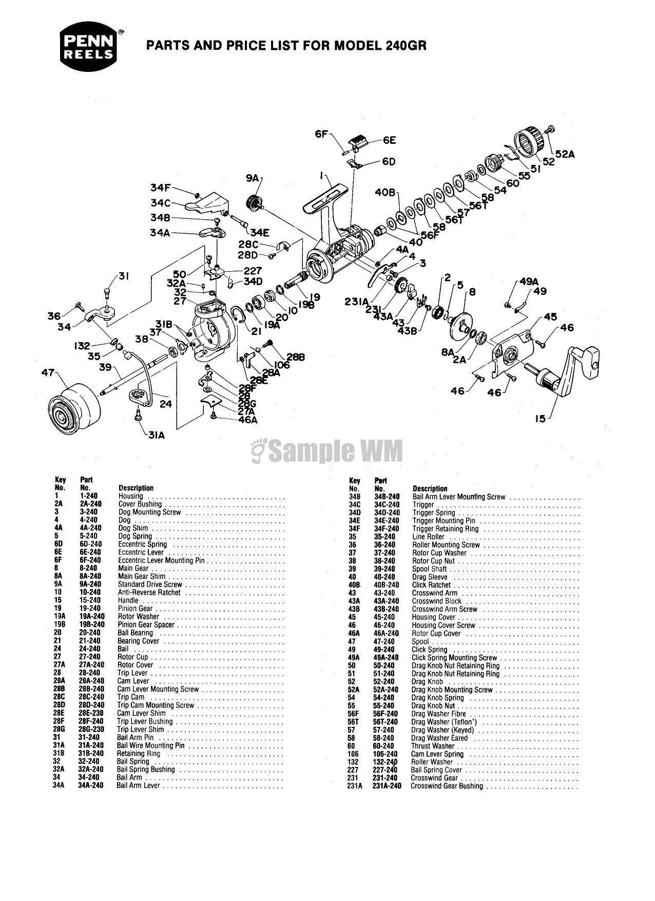 Marvelous fishing reel parts diagram pictures best image engine penn 240gr mikes reel repair pooptronica Images